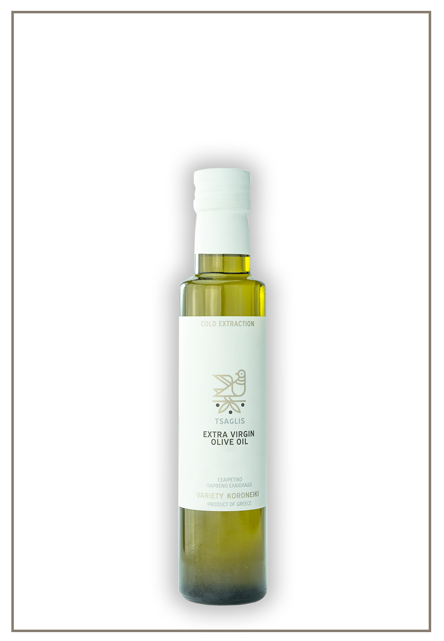 Tsaglis Extra Virgin Olive Oil - Kalamata - Glass Bottle 250 ml
