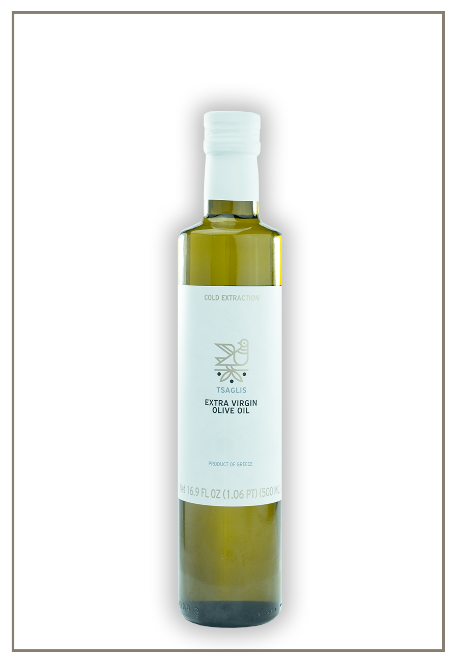 Tsaglis Extra Virgin Olive Oil - Kalamata - Glass Bottle 500 ml