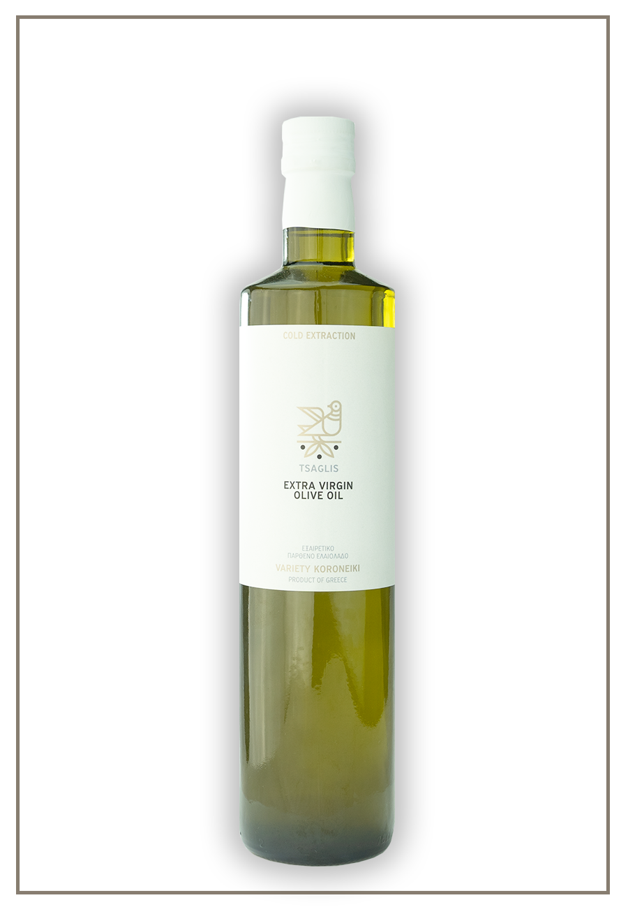 Tsaglis Extra Virgin Olive Oil - Kalamata - Glass Bottle 750 ml