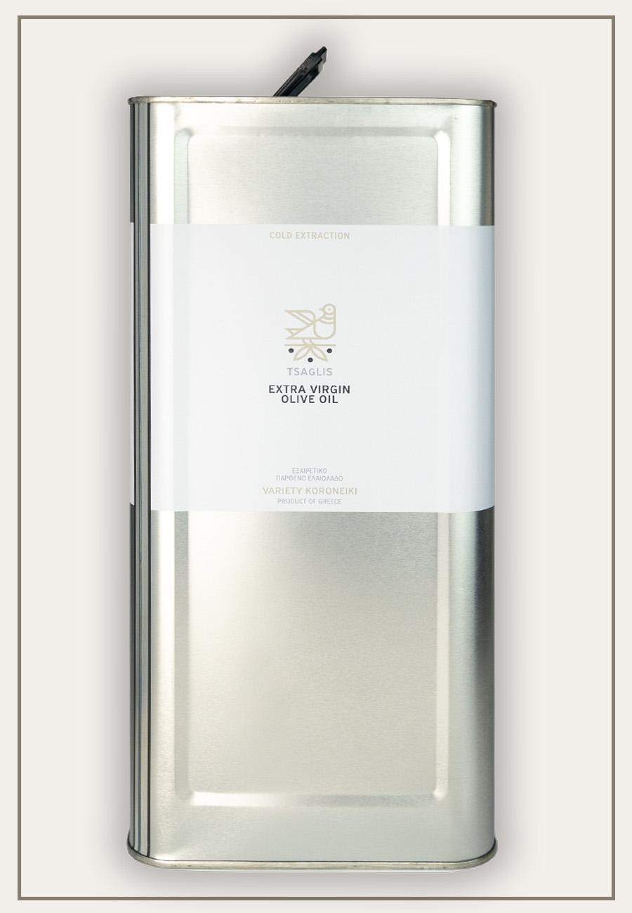 Tsaglis Extra Virgin Olive Oil - Kalamata - Tin 3 lt
