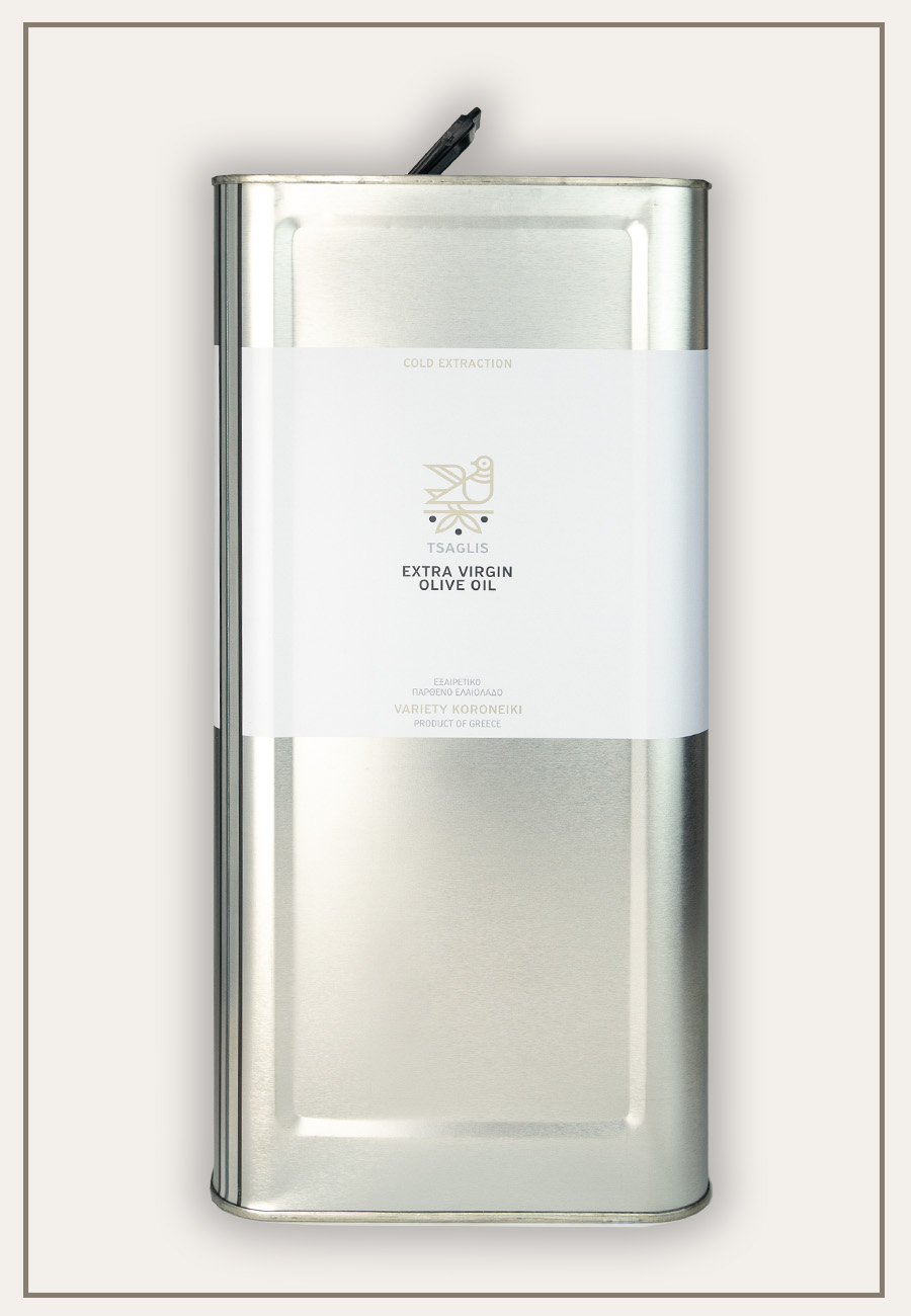 Tsaglis Extra Virgin Olive Oil - Kalamata - Tin 5 lt