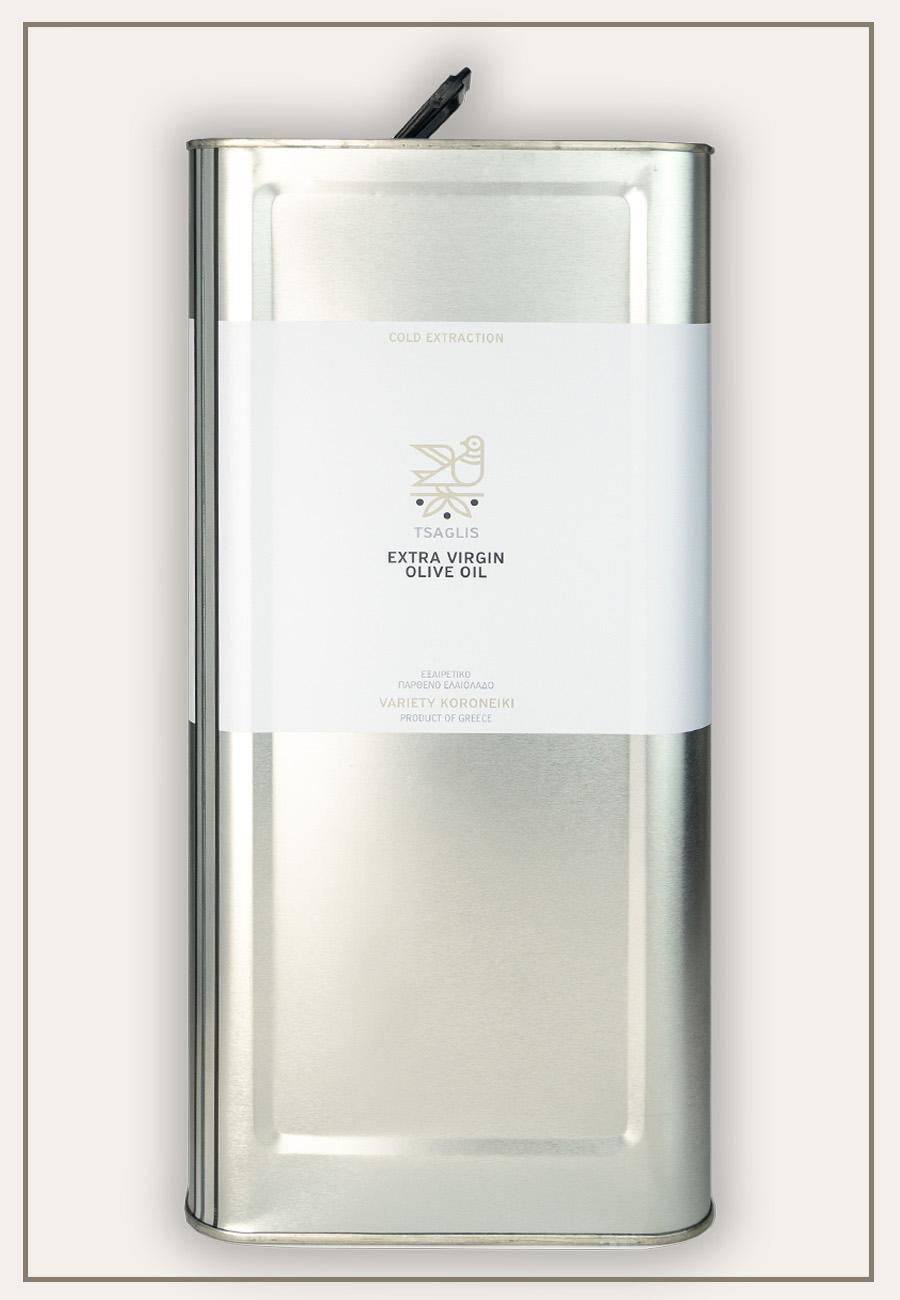 Tsaglis Extra Virgin Olive Oil - Kalamata - Tin 5 lt - Zoom