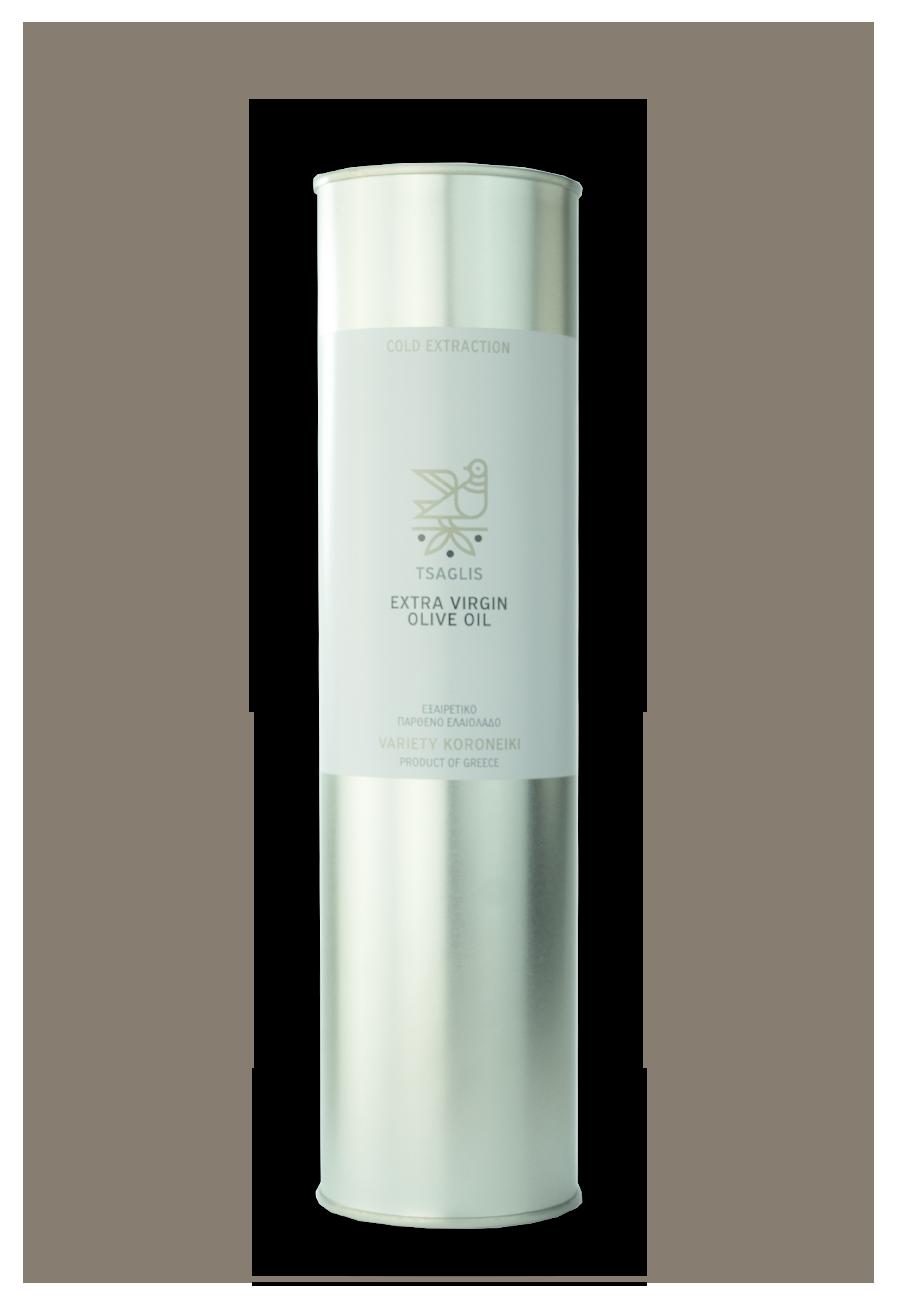 Tsaglis Extra Virgin Olive Oil - Kalamata - Tinplate Bottle 750 ml