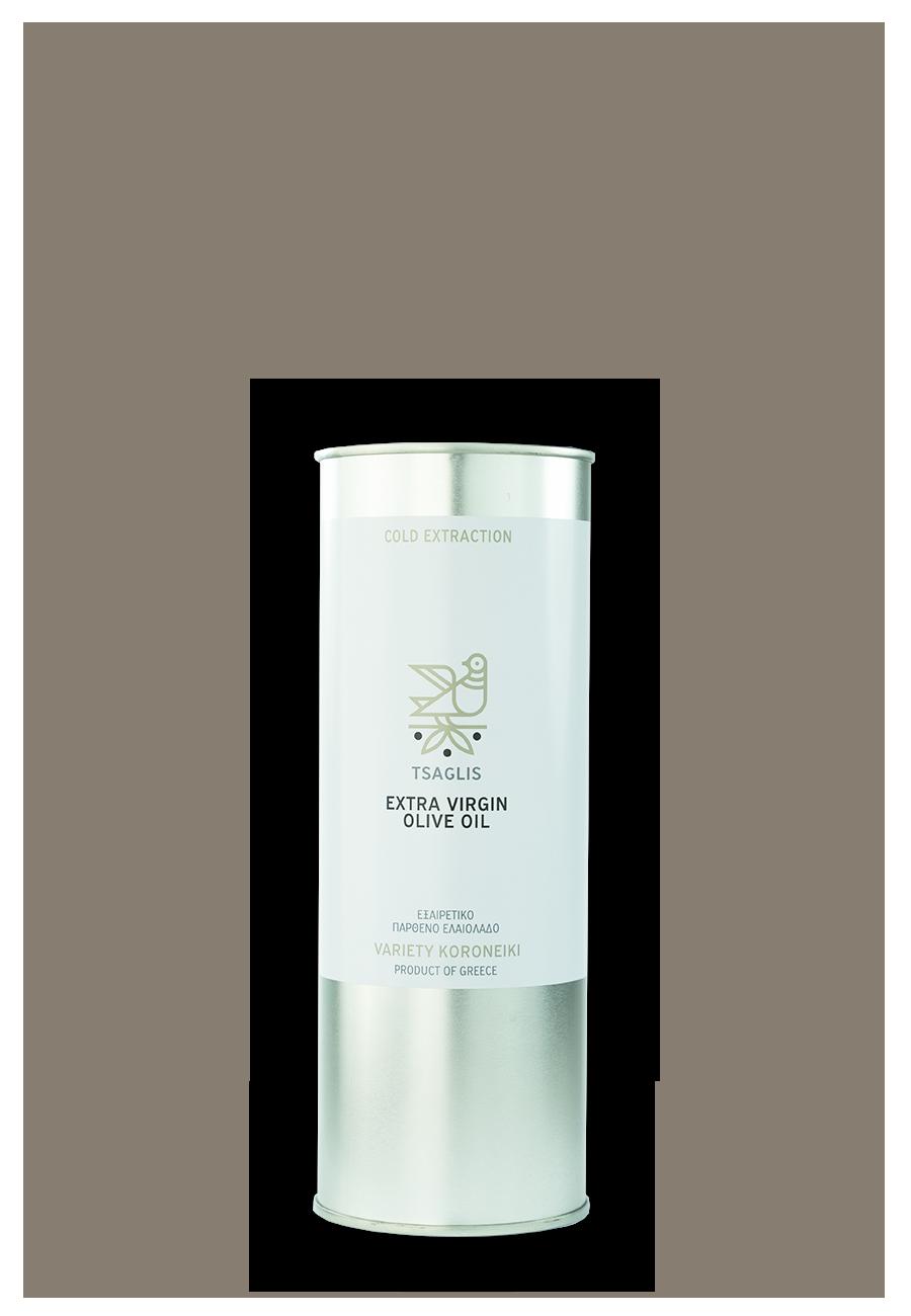 Tsaglis Extra Virgin Olive Oil - Kalamata - Tinplate Bottle 500 ml
