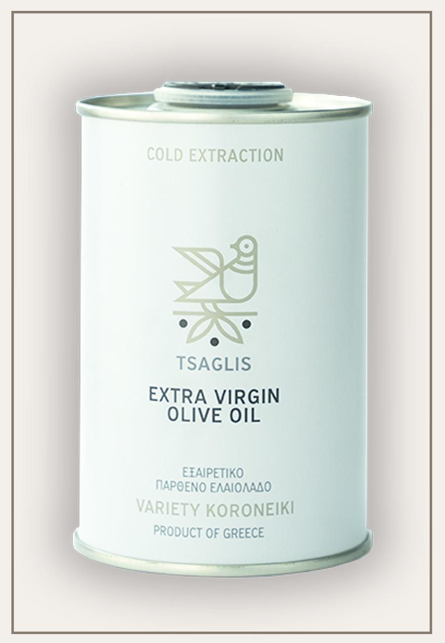 Tsaglis Extra Virgin Olive Oil - Kalamata - Tinplate cylinder 250 ml - Zoom