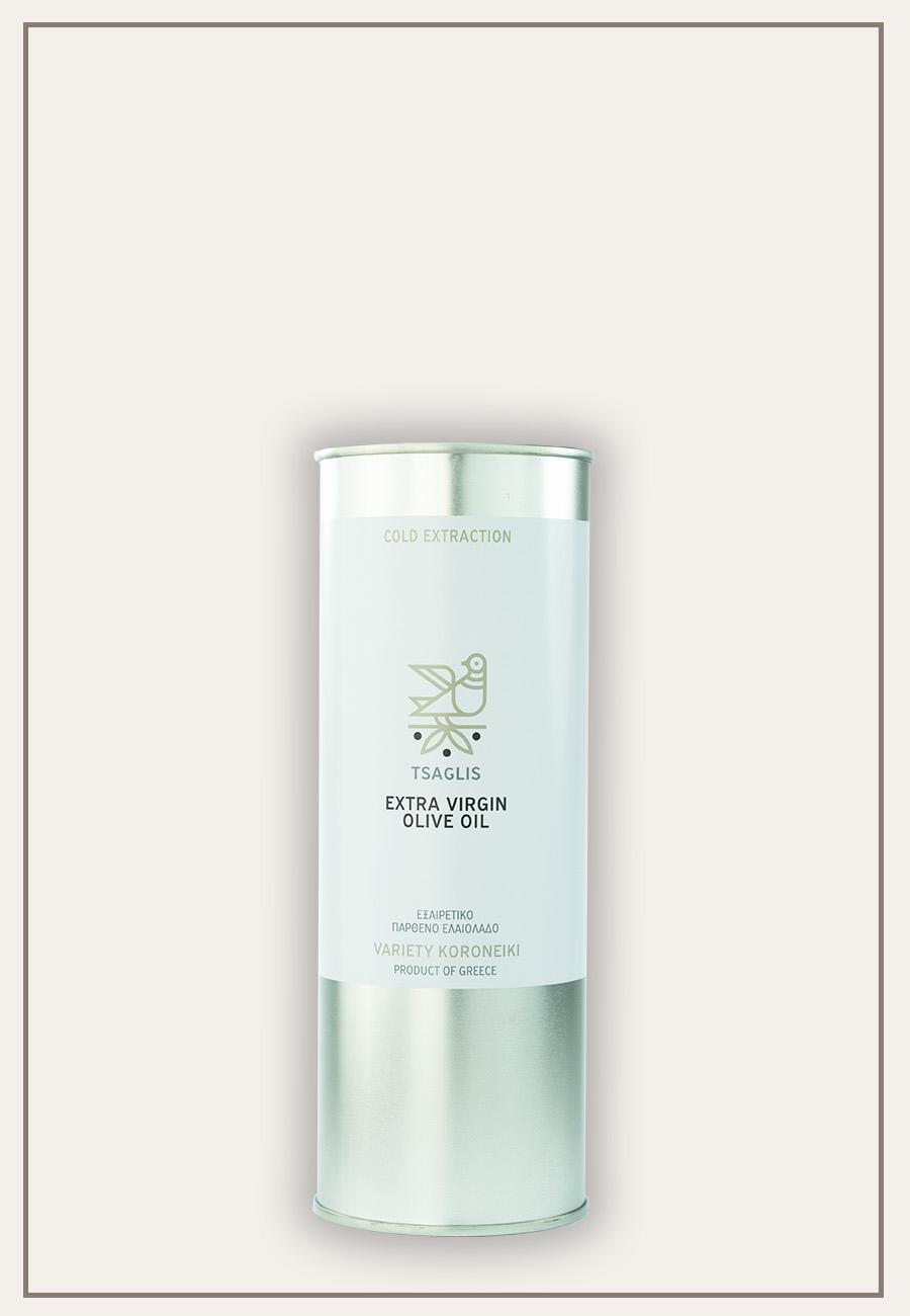 Tsaglis Extra Virgin Olive Oil - Kalamata - Tinplate cylinder 500 ml