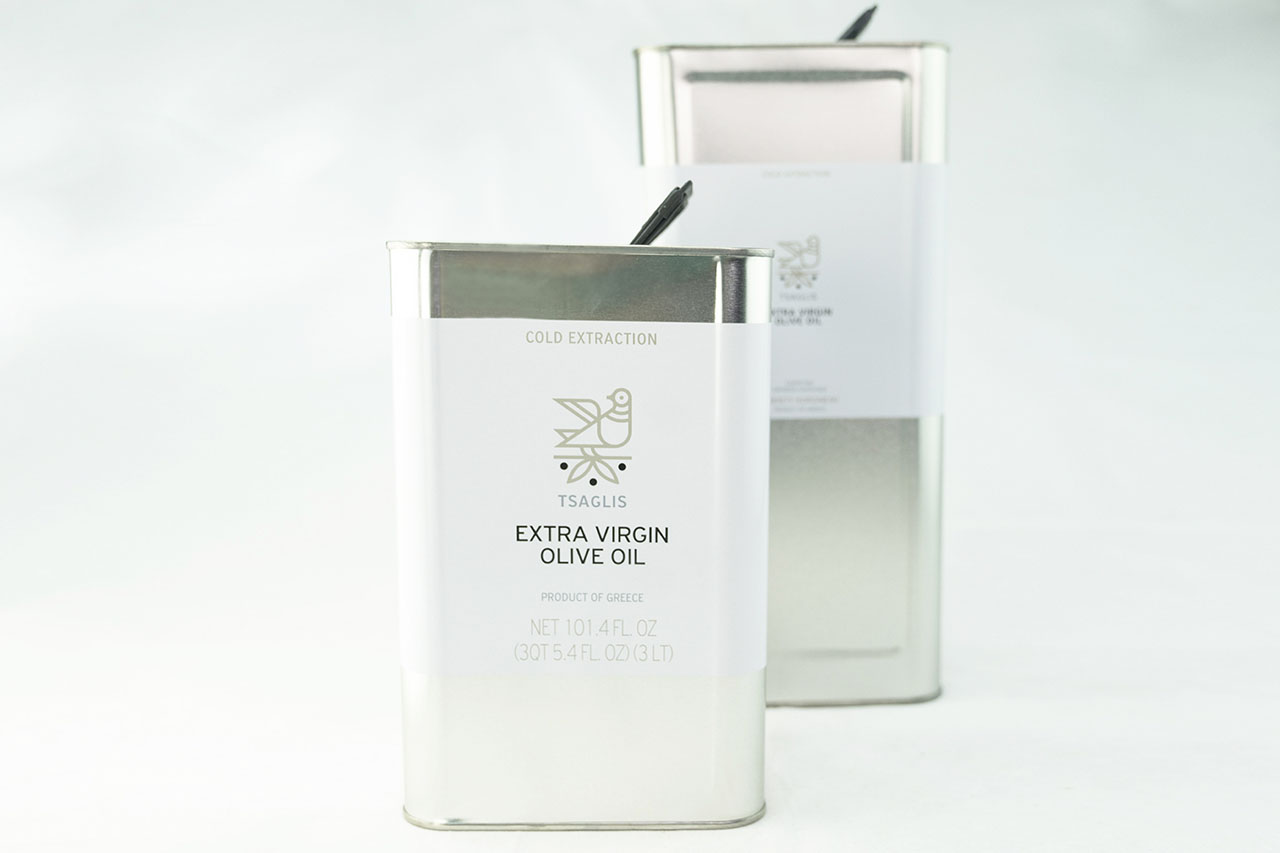 Tsaglis Extra Virgin Olive Oil - Kalamata - Southwest Peloponnese - Tin 3L-5L