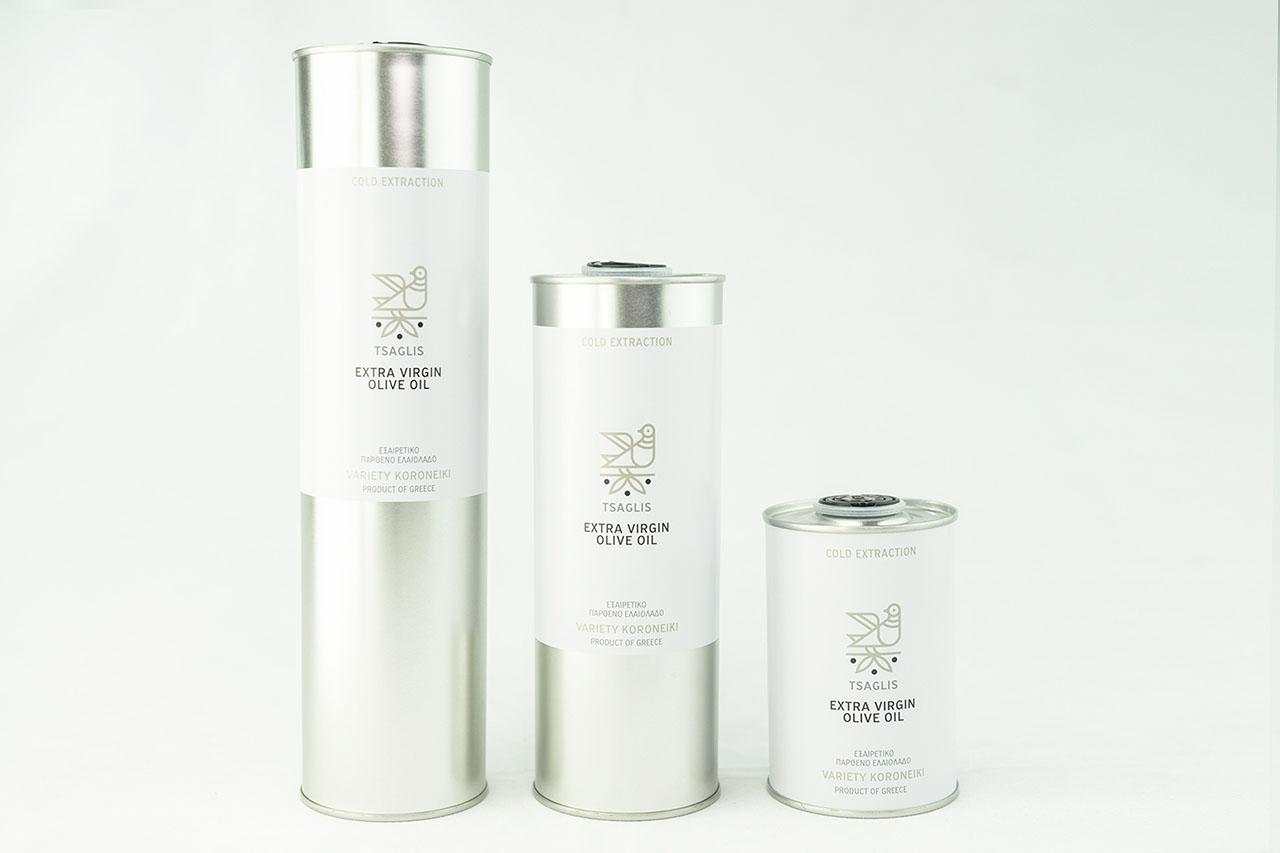 Tsaglis Extra Virgin Olive Oil - Kalamata - Southwest Peloponnese - Tin Bottles