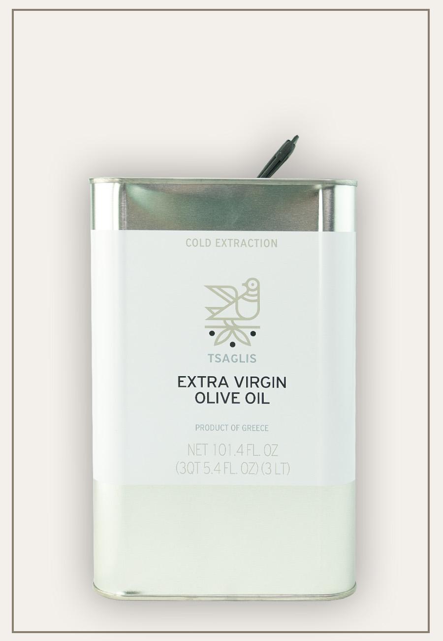Tsaglis - Extra Virgin Olive Oil - Kalamata - Tin - 3 lt