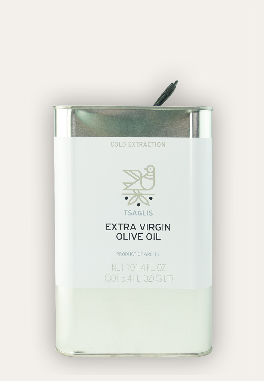 Tsaglis Extra Virgin Olive Oil - Kalamata - Tin 3 lt