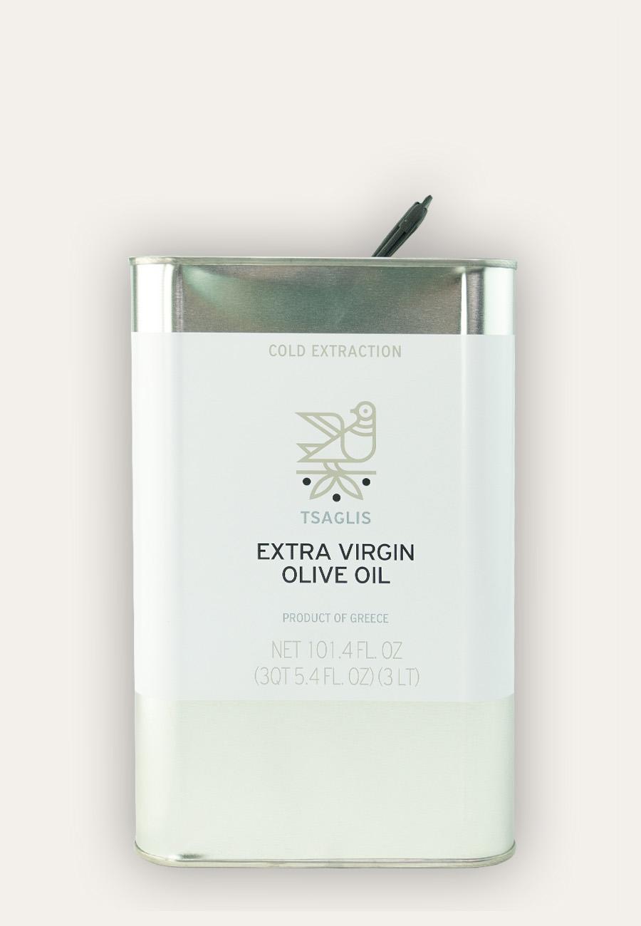 Tsaglis Extra Virgin Olive Oil – Kalamata – Tin 3 lt