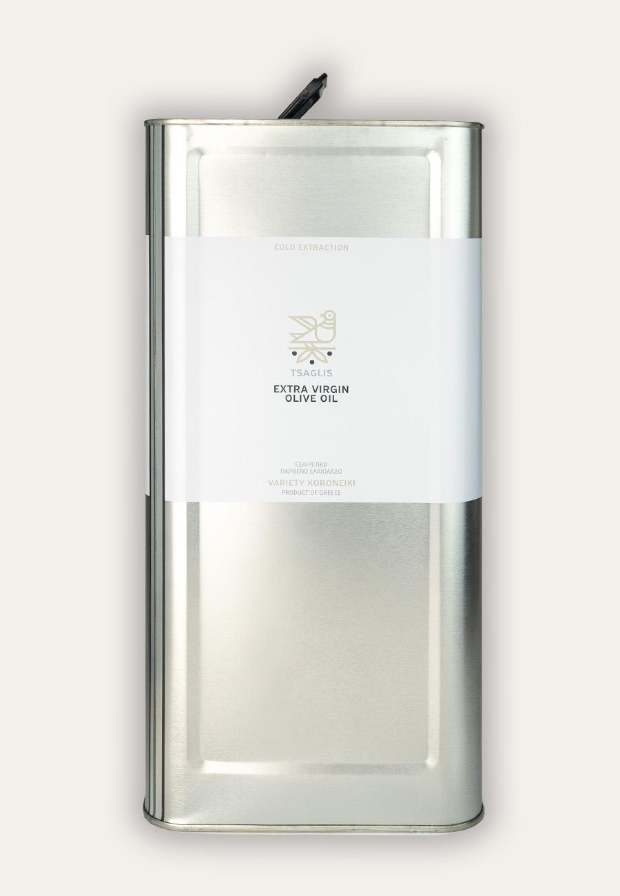 Tsaglis Extra Virgin Olive Oil – Kalamata – Tin 5 lt