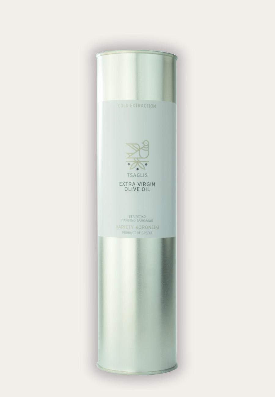 Tsaglis Extra Virgin Olive Oil – Kalamata – Tin 750 ml