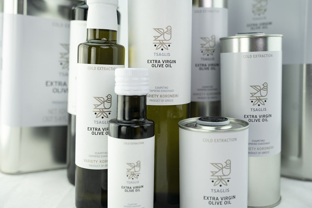 Tsaglis Extra Virgin Olive Oil Products - Kalamata - Southwest Peloponnese